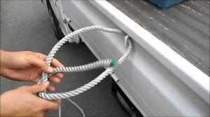 トラックに荷物を積む時に使用するトラックロープ結び方まとめの画像
